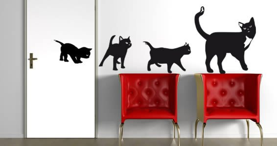 Delightful Cats Wall Decals