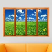 Garden Field Faux Window Murals