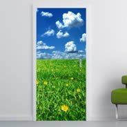 Grass Flower Fields Dry erase Furniture Decals