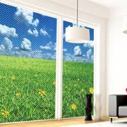 Flowers & Grass Field see through window decals