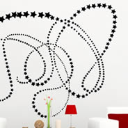 **********Filante Star wall stickers