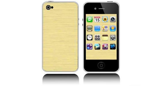 Gold Brush Metal iPhone decals skin