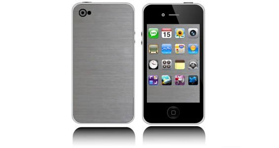 Silver Brush iPhone decals skin