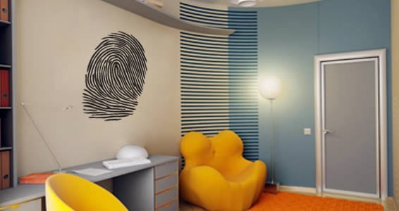 Thumb Prints Adhesive Wall Art Stencils