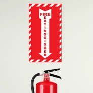 Fire Extinguisher Here wall decal