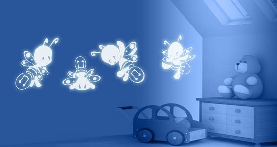 Glow Fireflies phosphorescent decals