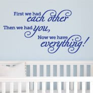 First Each Other quote decal