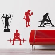 Fitness pack wall decals