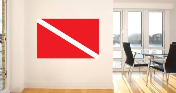 Scuba Flag wall stickers