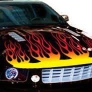 Flame hood car decals