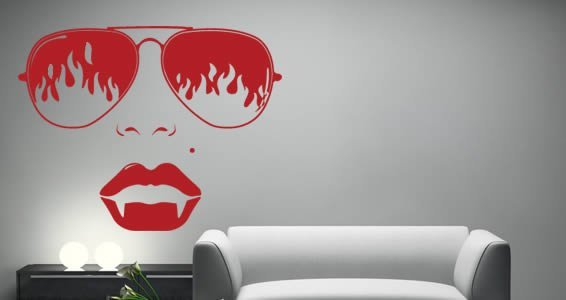 Fire Vampire wall stickers