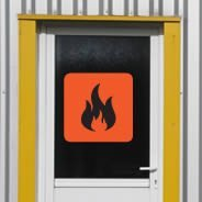 Flammable Sign decals