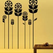 Flower Field wall decals