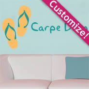 Personalized Beach Lettering wall decals