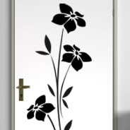 Floral 100 removable wall decals