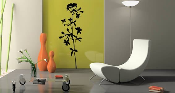 Floral branches wall stickers
