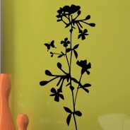 Floral 101 removable wall stickers