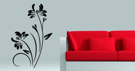 floral branch wall decals