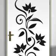 Floral art decals