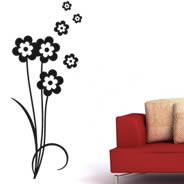 Floral 106 removeable wall decals