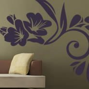 Modern flowers wall decals