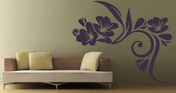 Modern flowers wall decals