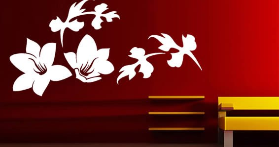 Festive flowers wall decals