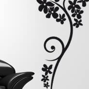 Flower branch wall decals
