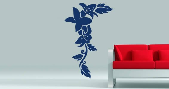 Contemporary flowers wall decals