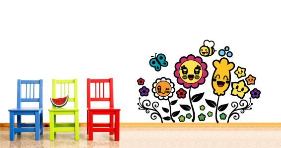 Cute Flowers wall stickers by Charuca
