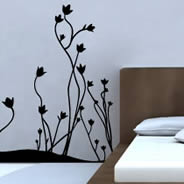 Floral Border wall decals