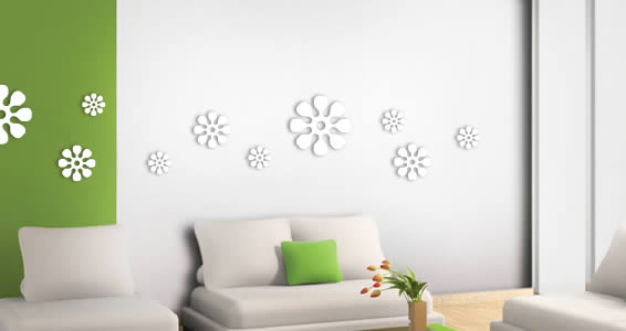 Flowers Pack wall appliques