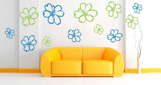 Daisy Flowers wall stickers