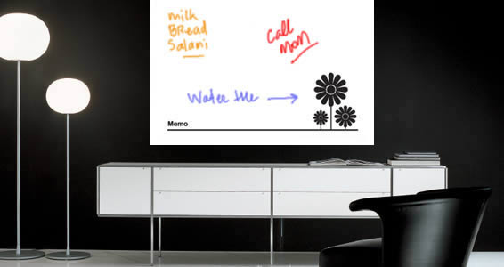 Flower Power whiteboard decals
