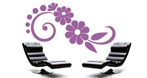 Flowers vinyl wall decals