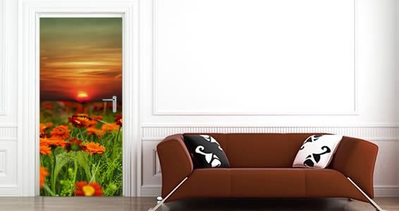 Flowers Dry Erase Furniture Skins decals