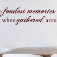 Fondest Memories wall decal