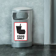 Food Only Sign decals