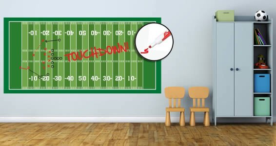 Football Field Dry Erase Wall Decal