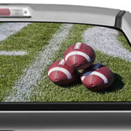 Football Field see through car window decals