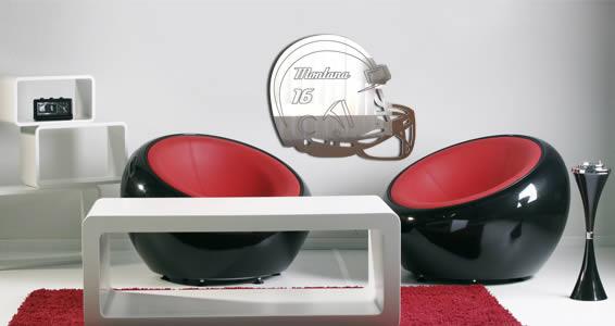 Custom Football Helmet mirrors