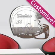 Custom Football Helmet mirrors