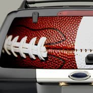 Football see through car decal