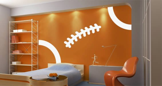 Football Stitch wall decal