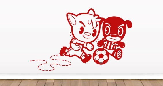 Soccer game kids wall decals
