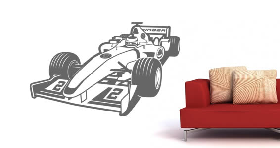 Turbo Race Car wall stickers for kids