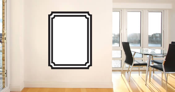 whiteboard frame wall decals | dezign with a z
