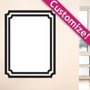 Whiteboard Frame wall decals