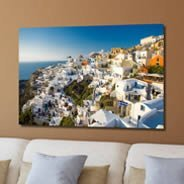 Fresco Village photo on canvas