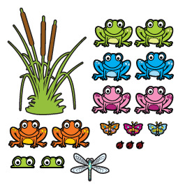 Frogs Pack wall decals